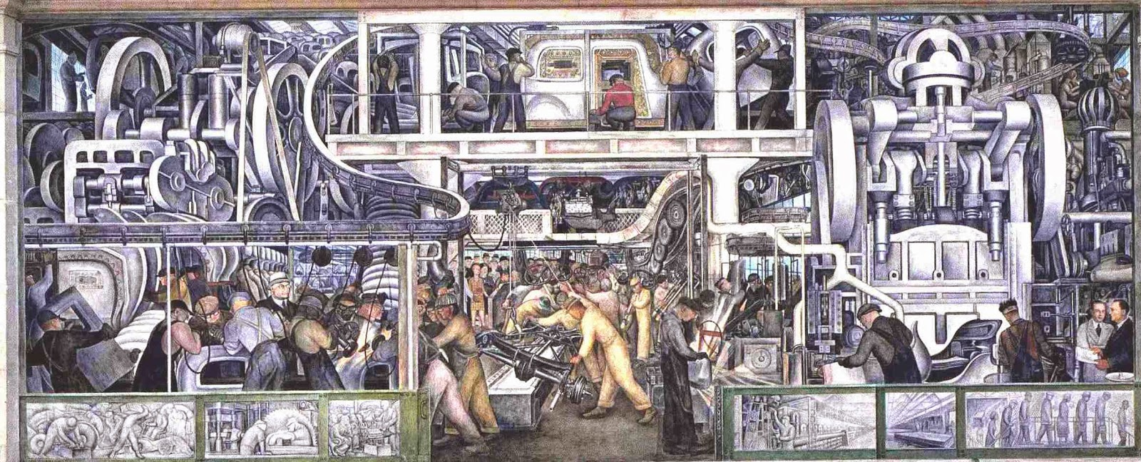 Diego Rivera's Detroit Industry mural.