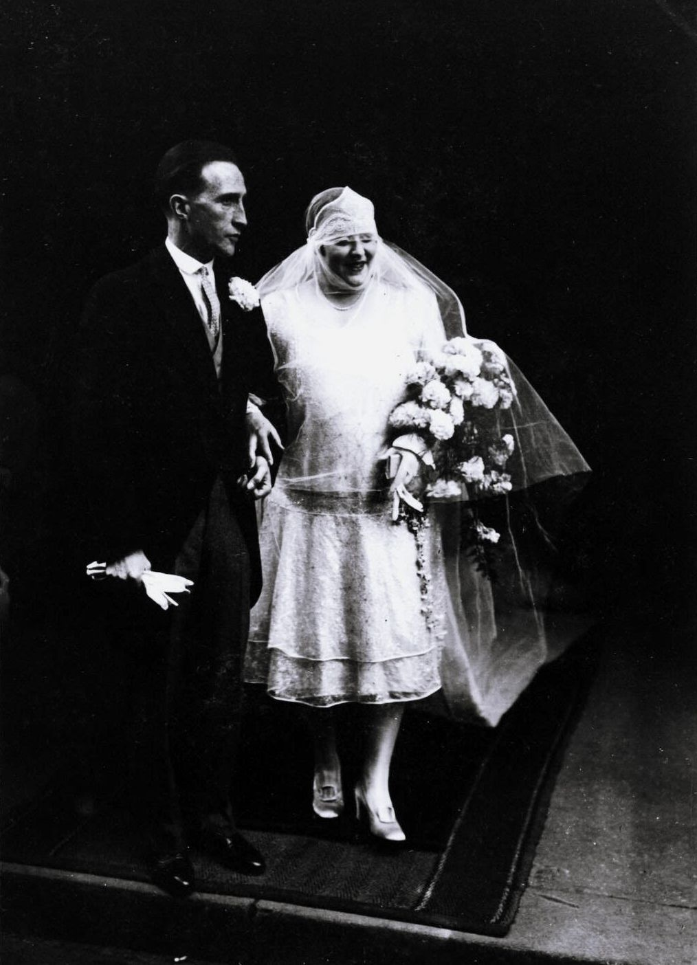 Photograph of Marcel Duchamp with his bride, Lydia Levassor Marcel Duchamp,...