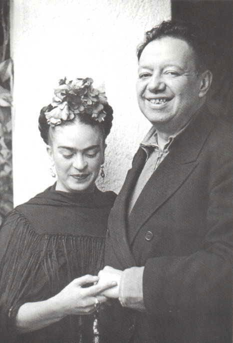 1940 - Diego Rivera y Frida Kahlo en San Angel